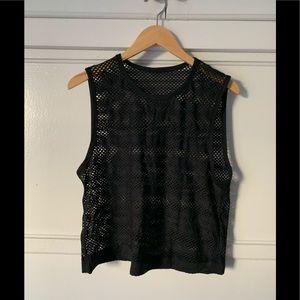 Lululemon mesh workout tank (black)